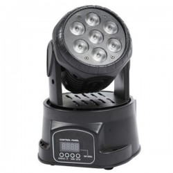 Testa Mobile Mini Wash 7 Led da 10W RGB