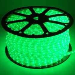 Corda luminosa 2 vie led 12V VERDE
