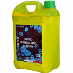 Techno Bubble Fluid UV Yellow 5Kg Color Reactive Liquido bolle