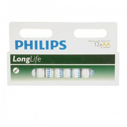 Batteria AA Philips Zinc Carbon LongLife 12 PZ