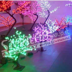Ciliegio bonsai luminoso led Dim.80 cm Colore Blu