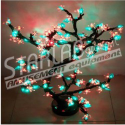Ciliegio bonsai luminoso led Dim.80 cm Colore Multicolor