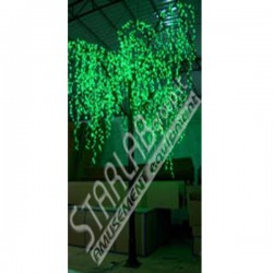 Salice luminoso Led H: 350 cm Diam: 300 cm Colore Verde