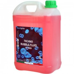 Techno Bubble Fluid UV Red 5kg Color Reactive Liquido bolle