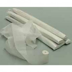 Tubo 10 stelle filanti carta Bianco ignifugo 5cmx20mt - Tube of stars streamers White card Blister