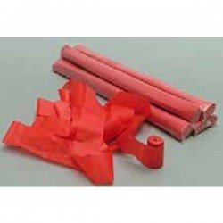 Tubo 10 stelle filanti carta Rosso ignifugo 5cmx20mt - Tube of stars streamers Red card Blister