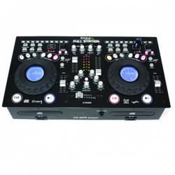 Mixer 02 canali Professional Mixing Console with Dual CD USB SD Player USATO